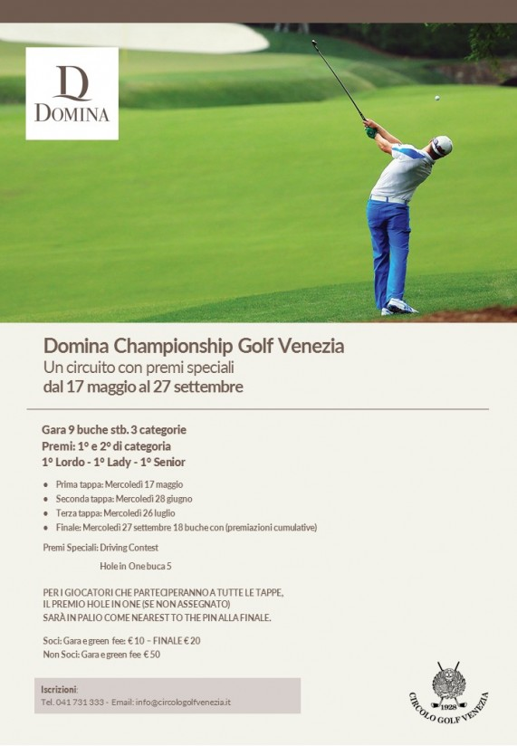 Domina Championship golf Venezia